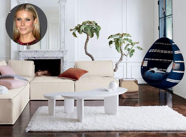 A marca da atriz, que é conhecida pelos seus itens de bem-estar, beleza e viagens, agora faz o seu début no design de interiores (Foto: CB2/ Reprodução)