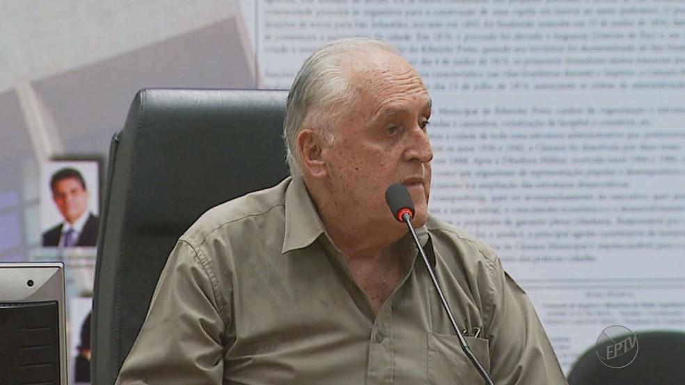 O vereador Waldyr Villela (PSD) é alvo de investigação em Ribeirão Preto (Foto: Reprodução/EPTV)