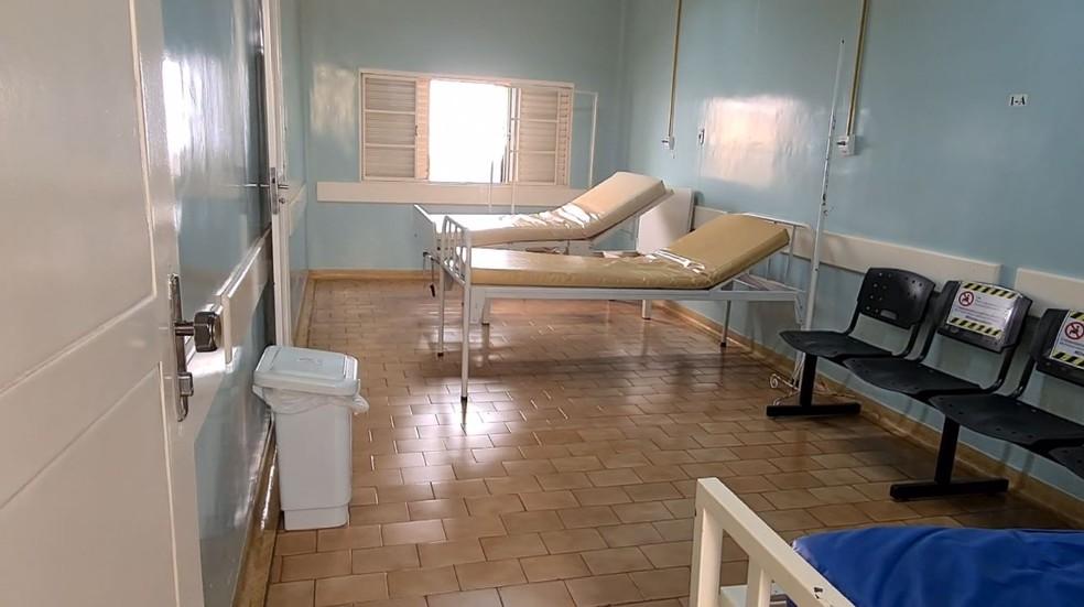 Santa Casa de Igarapava mantém leitos de enfermaria para tratar pacientes com Covid-19 — Foto: EPTV/Reprodução