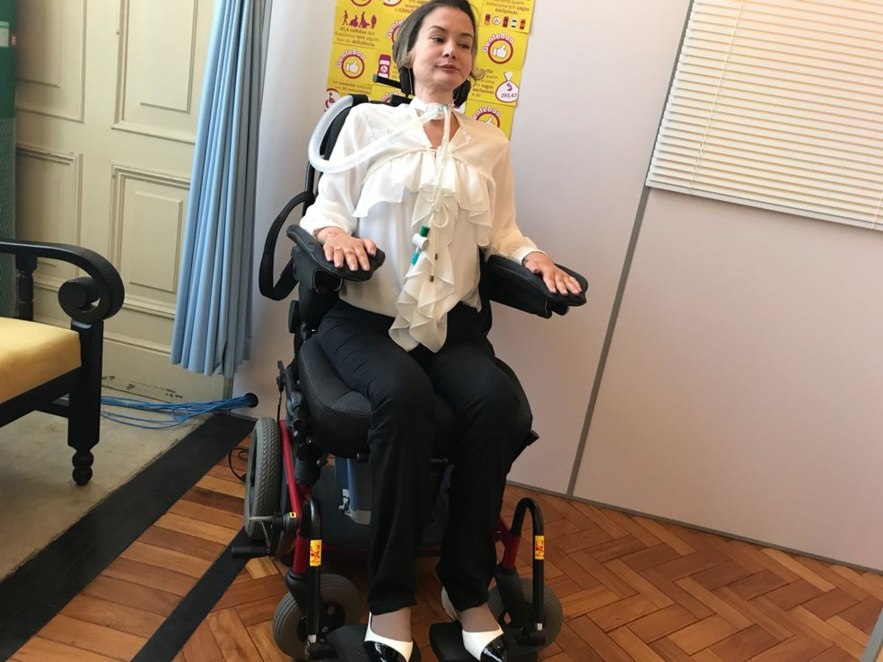 Vereadora Luciana Novaes é a primeira vereadora tetraplégica eleita no Rio de Janeiro (Foto: Henrique Coelho/G1)