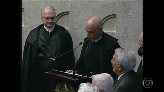 Jurista Alexandre de Moraes toma posse no Supremo Tribunal Federal