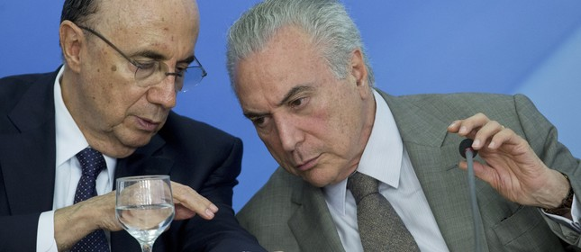 Meirelles e Temer (Foto: Jorge William)