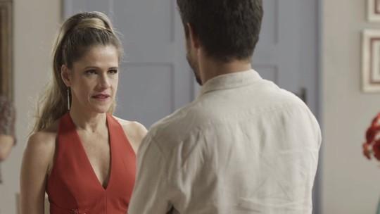 Silvana Nolasco diz a Marcos que está grávida e aparece vestida de noiva