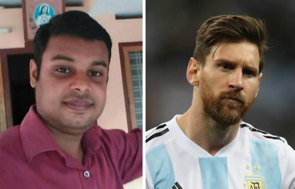 O fã indiano Lionel Messi que está desaparecido (Foto: Reprodução/Getty Images)