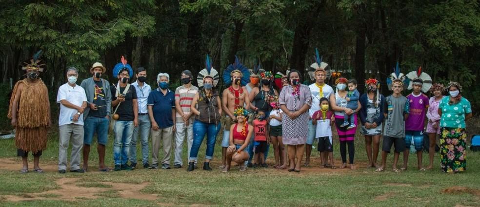 Famílias do povo Pataxó e Pataxó Ha-hã-hãe — Foto: Arquivo pessoal/ Ísis Medeiros