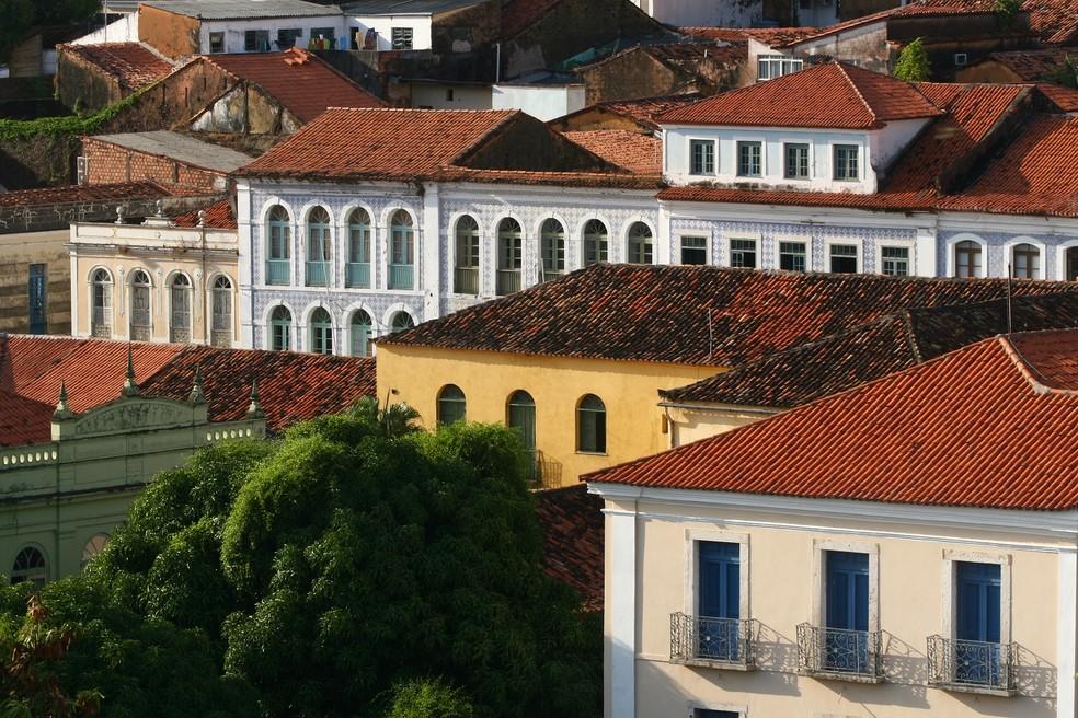 Casarões localizados no Centro Histórico de São Luís — Foto: Divulgação/Governo do Maranhão