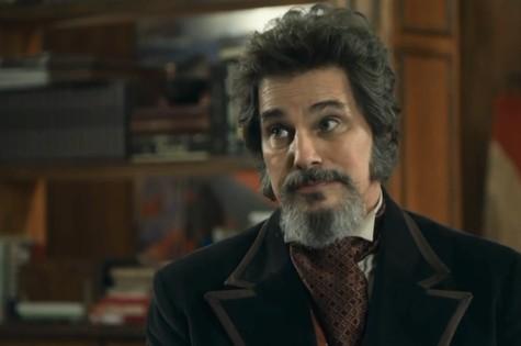 Edson Celulari é Dom Sabino em 'O tempo não para' (Foto: Reprodução)