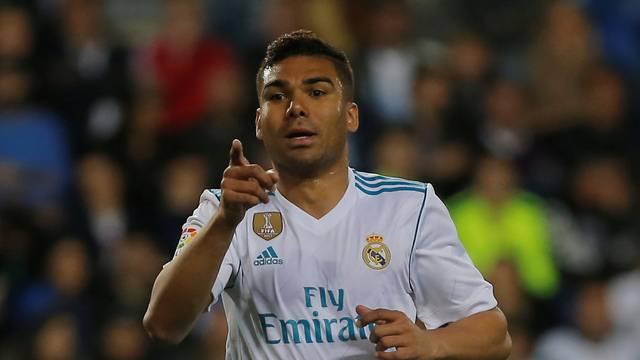 Casemiro comemora gol sobre o Málaga