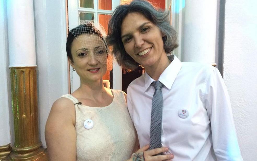Casamento coletivo igualitário em São Paulo — Foto: Marina Pinhoni/G1