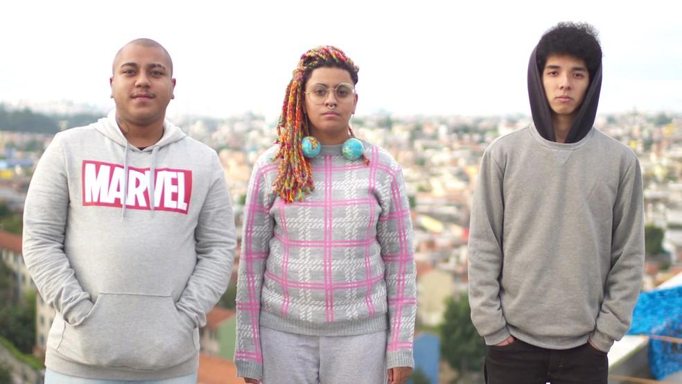 Produtores do Perifacon Igor Nogueira, Andreza Delgado e Pedro Okuyama — Foto: Anderson Della Cruz/Divulgação