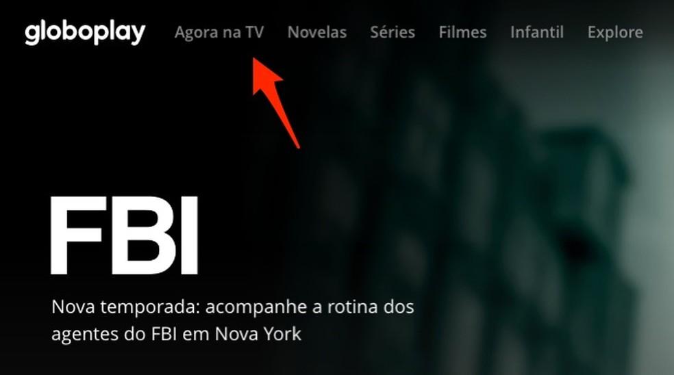Ação para iniciar a transmissão ao vivo na plataforma Globoplay e assistir ao BBB 21 — Foto: Reprodução/Marvin Costa