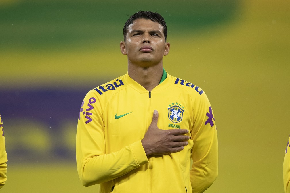 Thiago Silva vai se apresentar à seleção brasileira mesmo estando machucado — Foto: Luca Figueiredo / CBF