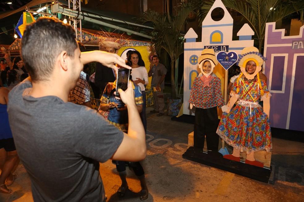 Festa junina na quermesse Quermesse do North Shopping Fortaleza (Foto: Divulgação)