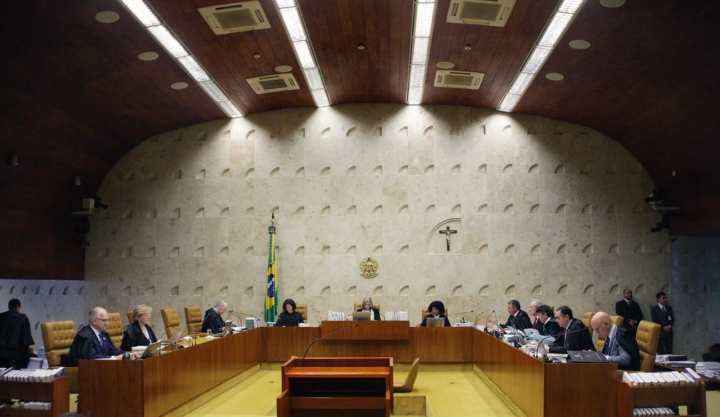 Sessão do STF que julgou ação sobre ensino religioso em escolas públicas (Foto: Foto: Rosinei Coutinho/SCO/STF)
