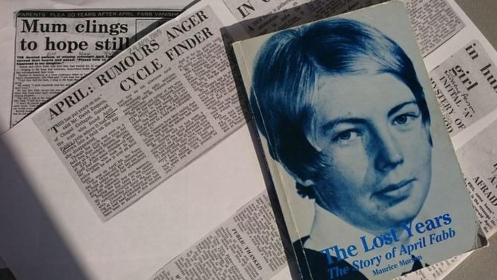 Mesmo 50 anos depois, ainda surgem supostas pistas sobre o desaparecimento de April Fabb — Foto: BBC