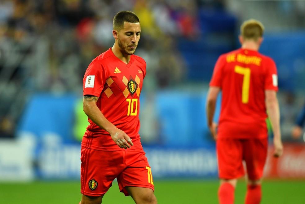 Hazard não conseguiu levar a Bélgica à sua primeira final de Copa (Foto: REUTERS/Dylan Martinez)