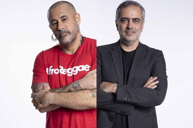 José Junior e Heitor Dhalia (Foto: TV Globo)