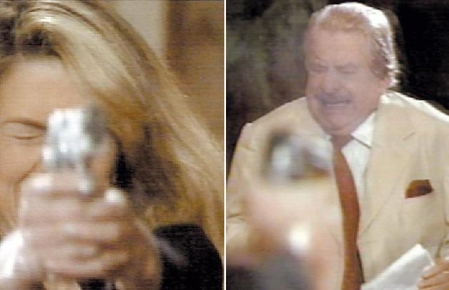"""""""Celebridade"""" (2004) revelou no último capítulo a assassina de Lineu Vasconcelos (Hugo Carvana): Laura (Cláudia Abreu) (Foto: Reprodução da internet)"""