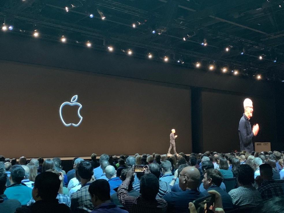 Congresso de desenvolvedores da Apple, nos Estados Unidos — Foto: Thiago Lavado/G1