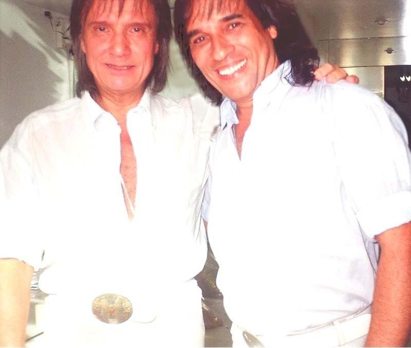 Carlos Evanney e Roberto Carlos (Foto: Arquivo pessoal)