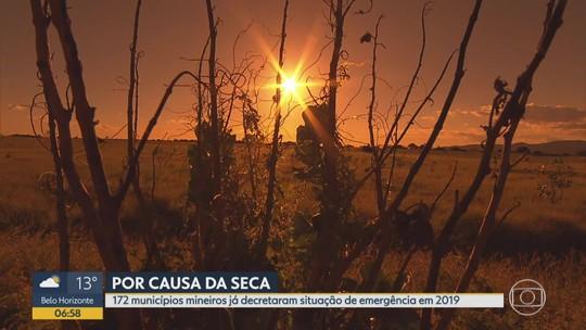 172 municípios mineiros já decretaram situação de emergência em 2019