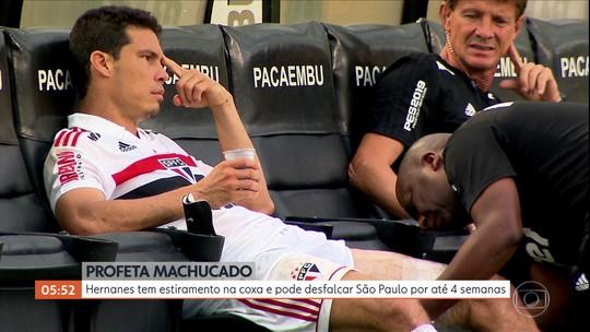 Hernanes tem estiramento na coxa e pode desfalcar São Paulo por até 4 semanas