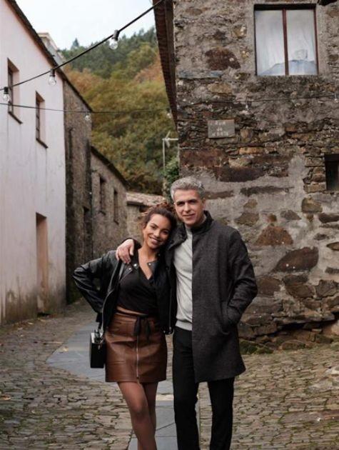 Gabriela Moreyra e o diretor Miguel Brabo (Foto: Arquivo pessoal)