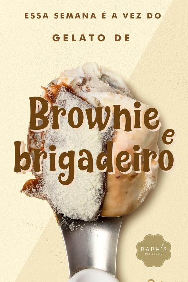 Sorvete de brownie e brigadeiro (Foto: Divulgação)