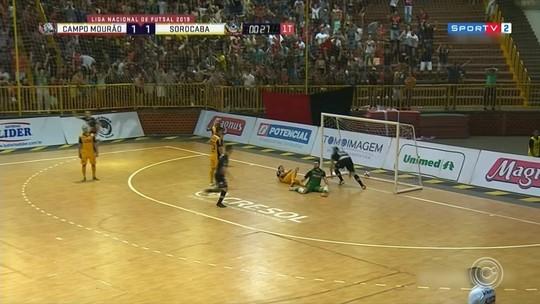 Campo Mourão e Sorocaba ficam no empate no jogo de ida das quartas de final da LNF