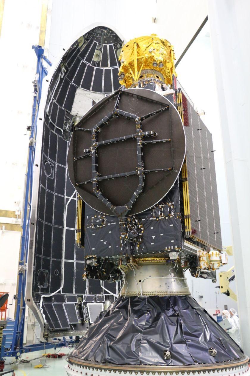 Beresheet sendo preparada para o lançamento  (Foto: Divulgação)