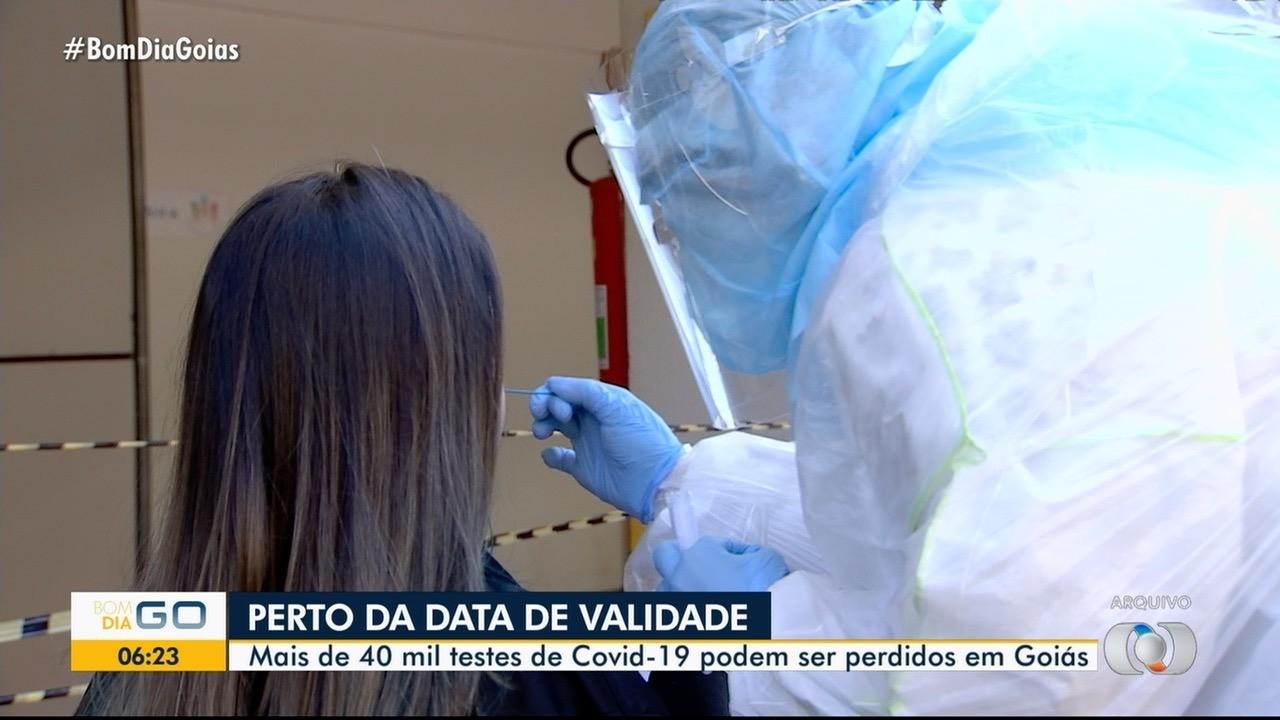 Mais de 40 mil testes de Covid-19 podem ser perdidos em Goiás