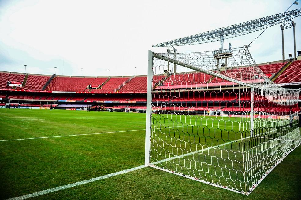São Paulo e Botafogo estreiam no Brasileirão jogando no Morumbi — Foto: Renato Pizzutto/BP Filmes