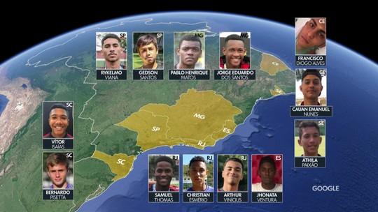 Conheça as histórias dos atletas vítimas do incêndio no CT do Flamengo