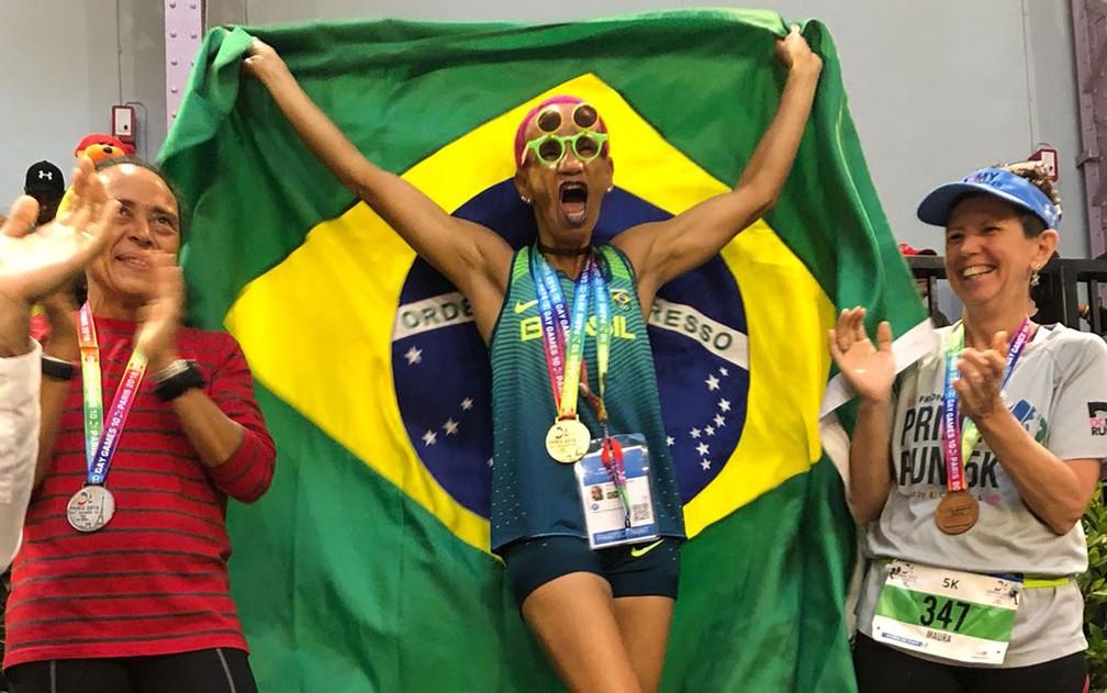 -  Ana Luiza dos Anjos Garcez venceu duas medalhas de ouro do Gay Games  Foto: Arquivo pessoal/Ana Garcez