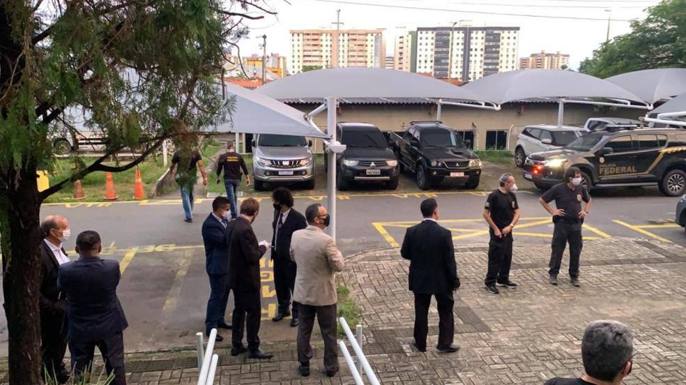 A operação aconteceu na cidade de Maranguape, na Região Metropolitana de Fortaleza. — Foto: Polícia Federal/Divulgação