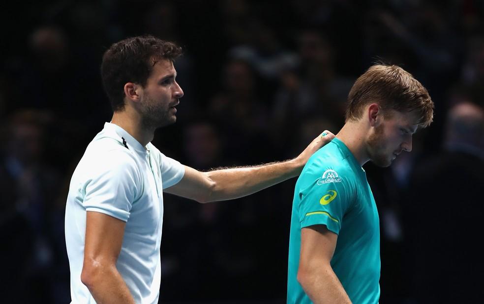 Dimitrov e Goffin são amigos fora de quadra e costumam treinar juntos na pré-temporada (Foto: Getty Images)