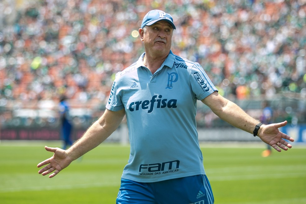 Felipão em Palmeiras x Cruzeiro — Foto: Gil Guzzo/O Fotográfico/Estadão Conteúdo