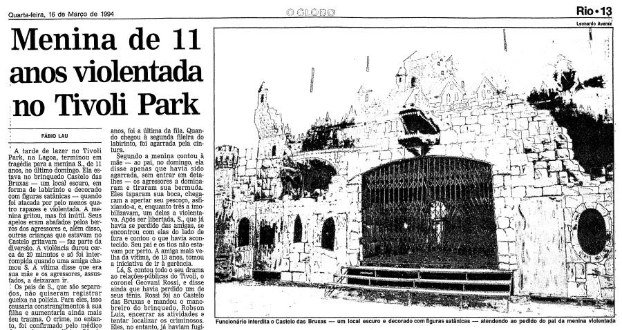 Página do GLOBO de 16 de março de 1994