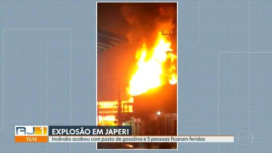 Explosão em posto de gasolina em Japeri, na Baixada Fluminense