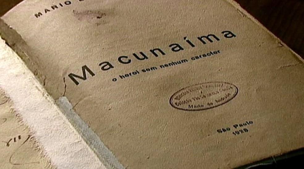 'Macunaíma', de Mário de Andrade, estava na 'lista da censura' — Foto: Reprodução/EPTV