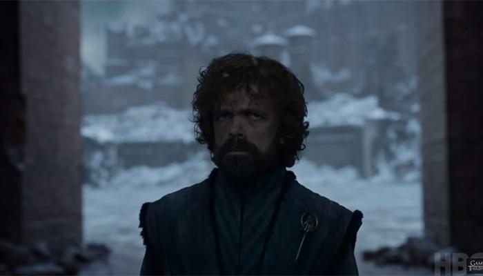 """Tyrion em cena de próximo episódio de """"Game of Thrones"""" (Foto: Reprodução/YouTube)"""
