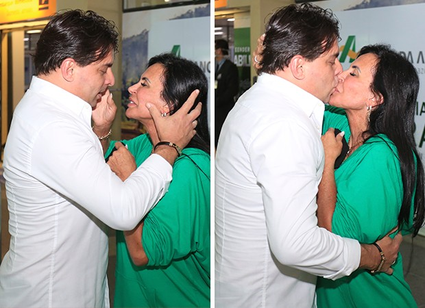Gretchen e Esdras Souza (Foto: Sidney Oliveira/ AgNews)
