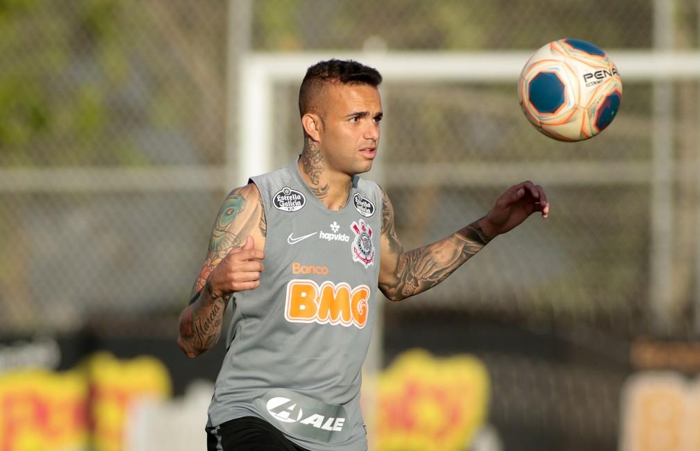 Luan em treinamento do Corinthians — Foto: Rodrigo Coca/Ag. Corinthians