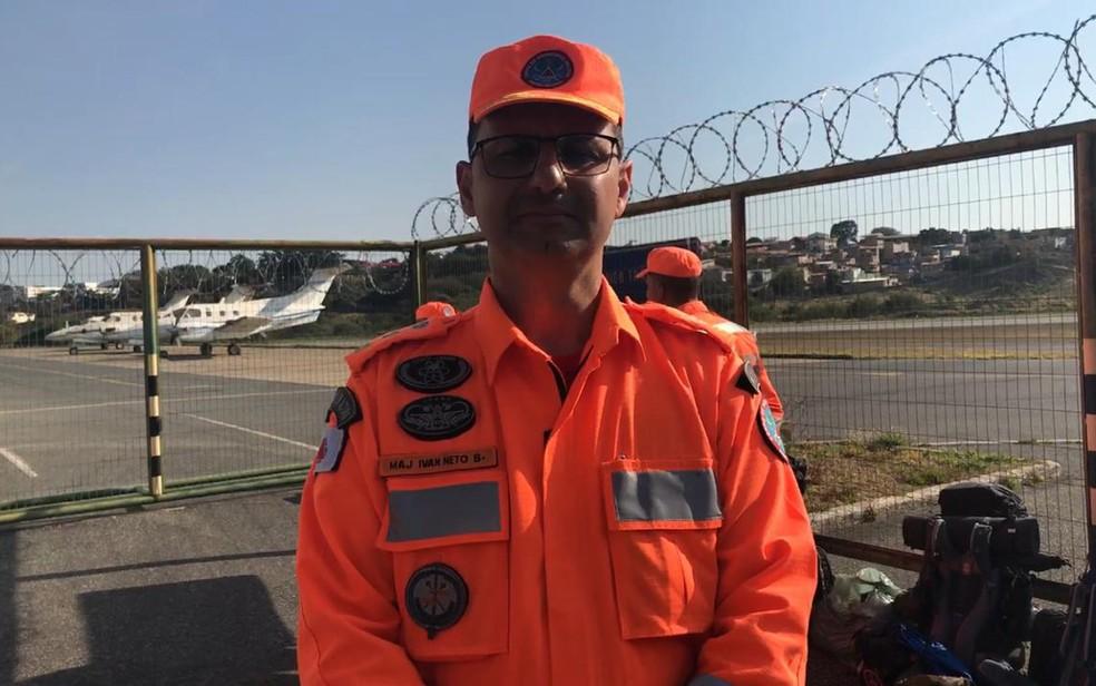 Major Ivan Neto, do Corpo de Bombeiros de Minas Gerais, atuou em Brumadinho e segue para combater os incêndios na Amazônia Legal — Foto: Raquel Freitas/G1