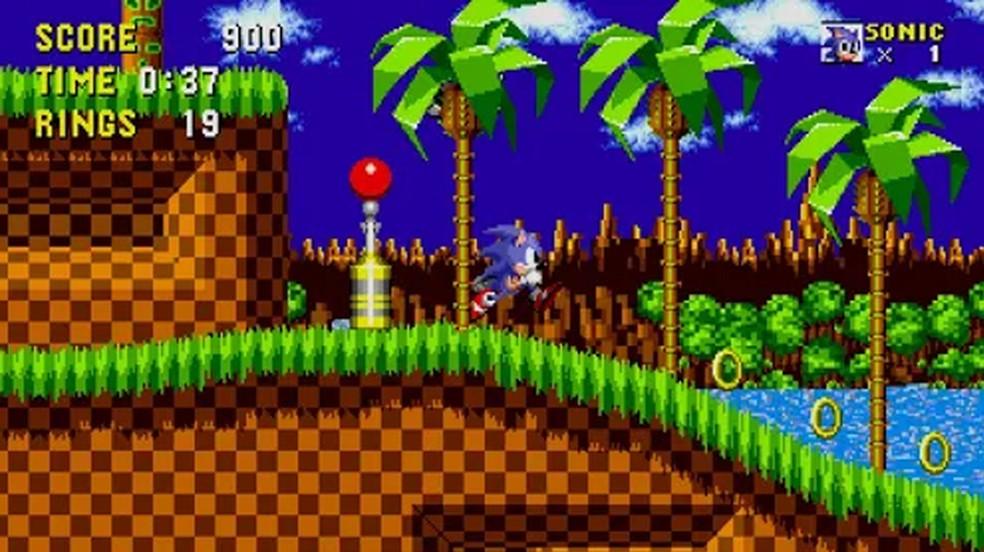 O clássico Sonic the Hedgehog do Mega Drive que começou tudo está disponível gratuitamente para Android e iOS — Foto: Reprodução/Google Play