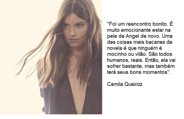 Camila Queiroz voltará a viver a protagonista, Angel (Foto: Reprodução)