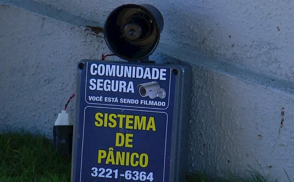 Sistema com o 'botão de pânico' foi criado  (Foto: Reprodução/Inter TV Cabugi)