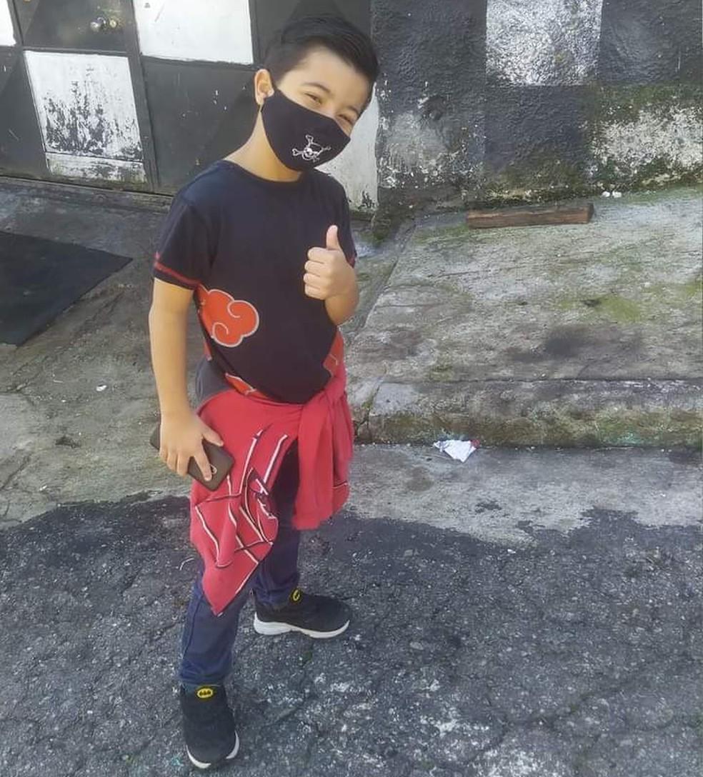 Bruno Gomes da Silva, de 8 anos, morreu ap?s ser atropelado por um caminh?o ? Foto: Mara Valentim Sales/Cedida