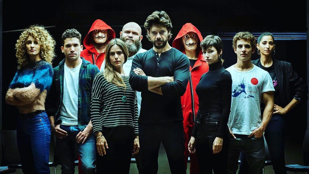 """Elenco da terceira temporada de """"La Casa de Papel""""' — Foto: Rerodução/Instagram"""