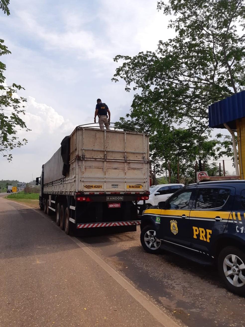 Esse é o quarto carregamento apreendido em nove dias em rodovias federais do Maranhão — Foto: Divulgação/Polícia Rodoviária Federal